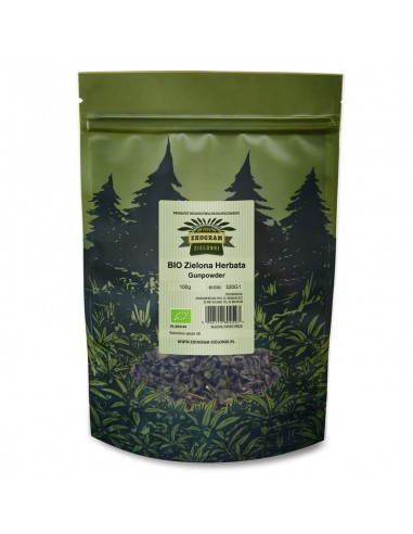 Organic Green Tea - Gunpowder - 100g