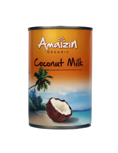 Organic coconut milk 400ml - Without Guar Gum