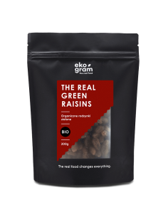 Organic Green Raisins - RAW - 200g