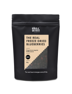organic blueberries feeze dried 25g ekogram