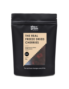 organic cherries freeze dried 25g ekogram
